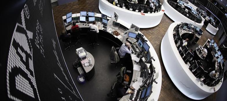 vista dall'alto borsa tedesca
