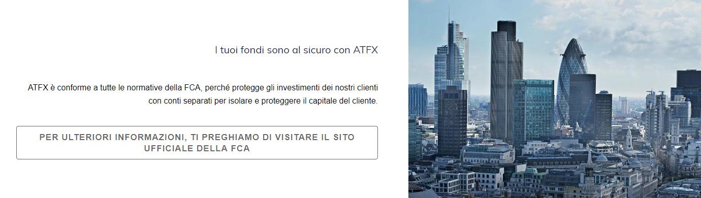 Sicurezza fondi ATFX